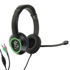Наушники Qumo Dragon War Flex, игровые, накладные, микрофон, 3.5 мм, 2 м, чёрно-зеленые