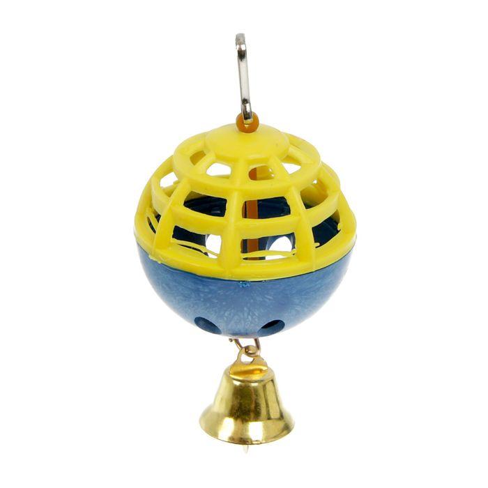 """Игрушка для попугая """"Забава"""" с 1 шариком, микс"""