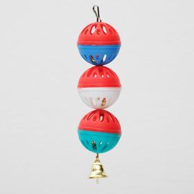 Игрушка для попугая 'Забава' с 3 шариками, микс Ош
