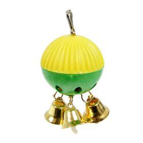 Игрушка для попугая 'Забава' с 3 колокольчиками, микс Ош