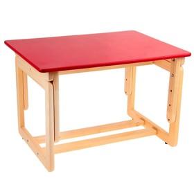Стол детский регулируемый, цвет малиновый Ош