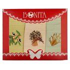 Набор вафельных полотенец Bonita Греция 45х70 3шт, 120г/м, хл100%
