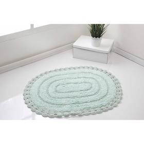 Коврик для ванной Yana, размер 60x100 см, цвет светло-зелёный