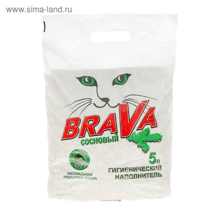 """Наполнитель древесный BRAVA """"Сосновый"""", 5Л"""
