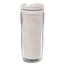 Термостакан под полиграфическую вставку, белый, 350 мл