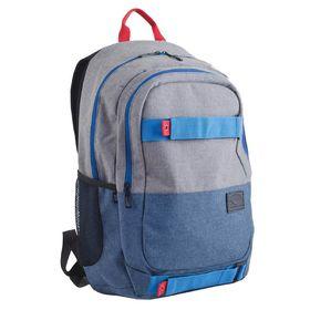 Рюкзак молодёжный Yes T-35 49 х 33 х 14 см, эргономичная спинка, отделение для ноутбука, Norman, серый/голубой