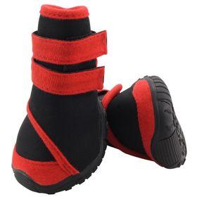 Ботинки Triol мягкие для собак M , неопрен на липучках,  красные Ош