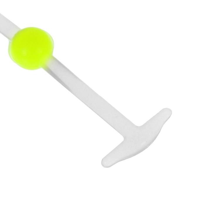 Набор шнурков для обуви «Шар», 6 шт, силиконовые, круглые, светящиеся в темноте, d = 15 мм, 6,5 см, цвет белый/жёлтый неоновый