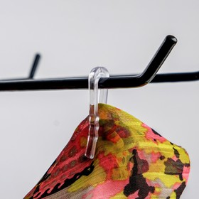 Крючок с зажимом, пластиковый, 4,5*0,9*0,3, (фасовка 100 шт), цвет прозрачный