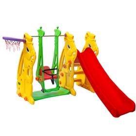 Игровой спортивный комплекс: горка + качели «Кролик»