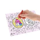 """Раскраска антистресс, вкладка для термокружки """"Сладкое настроение"""", 4 рисунка"""