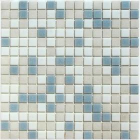 Мозаика стеклянная на бумаге Bonaparte, Aqua-400 327х327х4 мм
