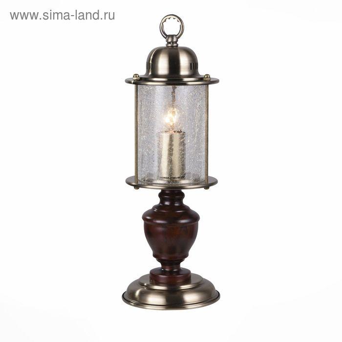 Настольная лампа VOLANTINO 60Вт Е27 бронза 15x15x42см