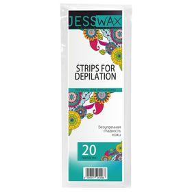 Полоски для депиляции JessWax, размер 7 x 20 см, 20 шт.
