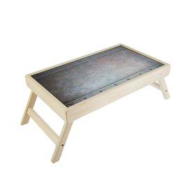"""Столик для завтрака """"Сталь"""" стеклянная поверхность 50х30см"""