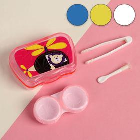 Набор для контактных линз «Мультяшка», 3 предмета, в футляре с зеркалом, цвет МИКС Ош