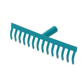 Грабли прямые, прямой зубец, 14 зубцов, металл, тулейка 28 мм, без черенка Ош
