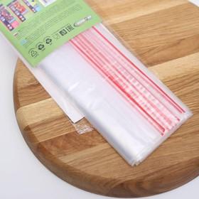 Пакеты с застежкой многофункциональные «Зиплок», 18×25 см, 15 шт, прозрачные