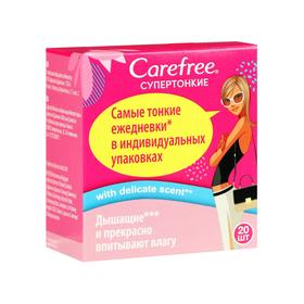 Прокладки ежедневные «Carefree» супертонкие Cotton feel, 20 шт 221