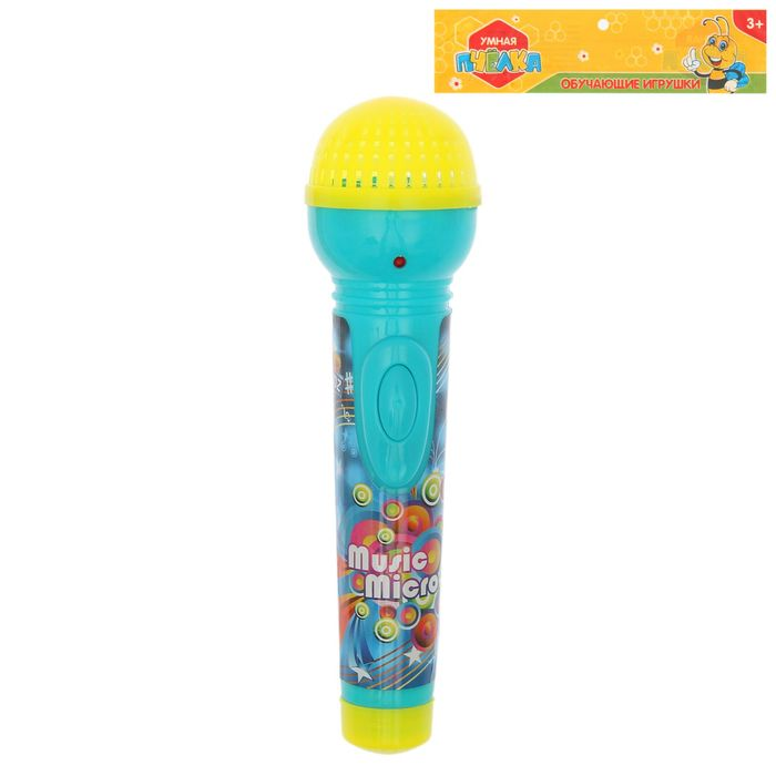 """Игрушка музыкальная """"Микрофон"""", световые и звуковые эффекты, работает от батареек, цвета МИКС"""