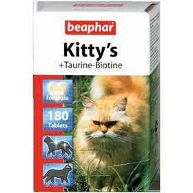 Витамины Beaphar Kitty's для кошек, таурин+биотин, 180 шт