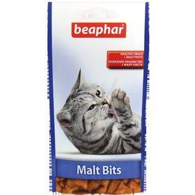 """Подушечки Beaphar  """"Malt-Bits"""" с мальт-пастой  35гр, для кошек"""