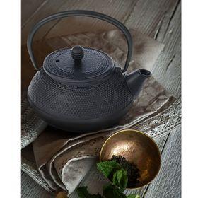 Чайник с ситом 800 мл 'Восточная ночь' , цвет черный, с эмалированным покрытием внутри Ош