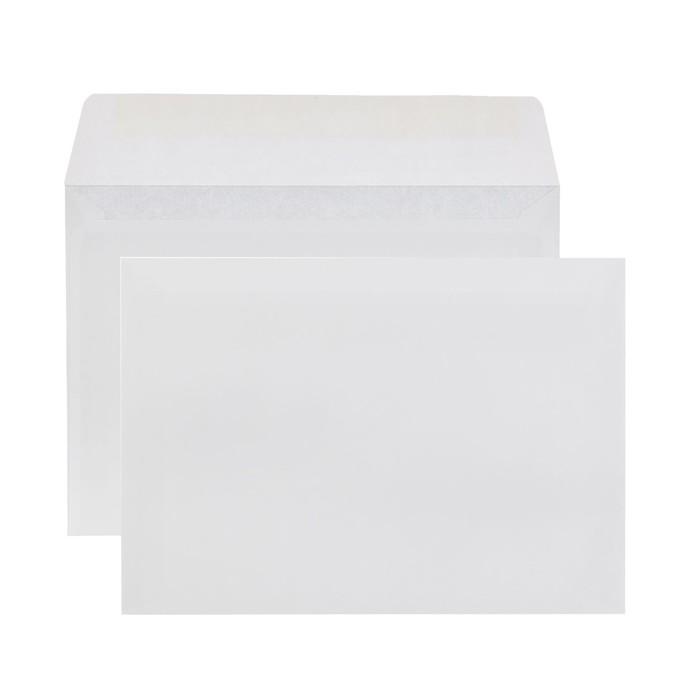 Конверт С6 114х162 мм, чистый, без окна, клей, без запечатки, 80 г/м², в упаковке 100 шт.