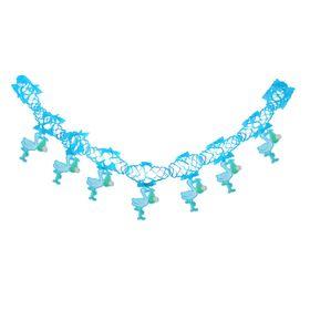Гирлянда «Аист с малышом», 250 см, голубой цвет Ош