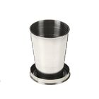 Фляжка 240 мл со складным стаканом 50 мл внутри, чёрная - Фото 4