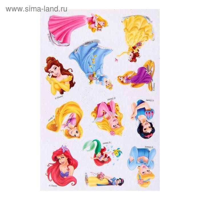 """Фреска цветной фольгой """"Принцессы: Ариэль"""", стек, блестки 2 гр, БОНУС: наклейки, А5"""