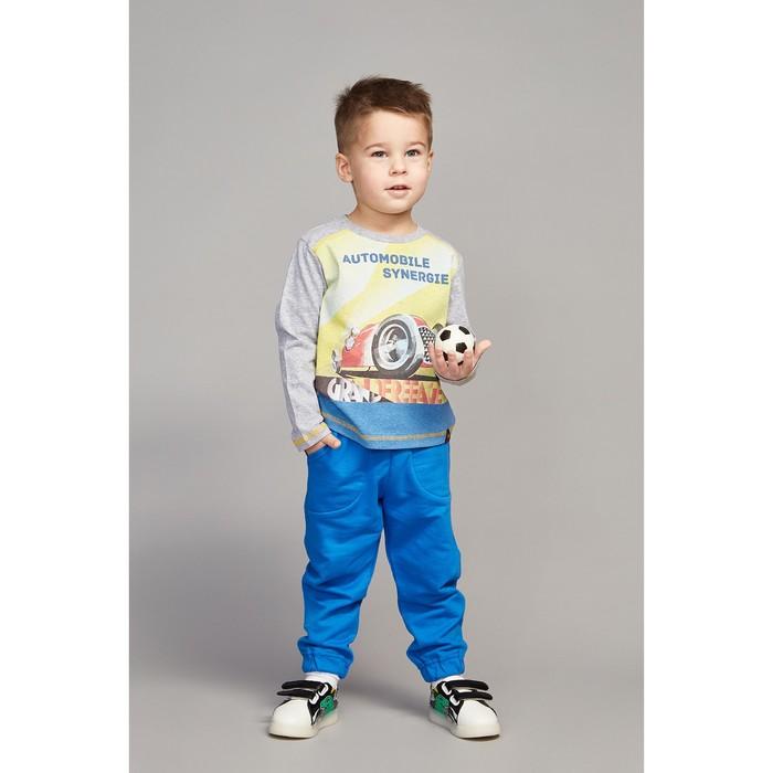 Лонгслив для мальчика, рост 104 (60) см, цвет серый меланж