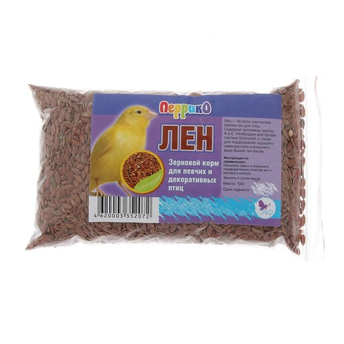 Корм Семя льна для птиц, 100 г