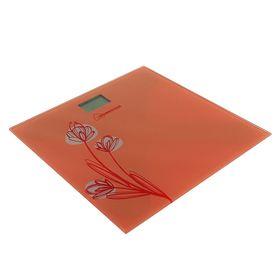 Весы напольные HOMESTAR HS-6001A, электронные, до 180 кг, оранжевые Ош