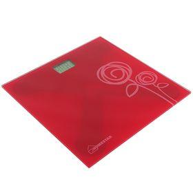 Весы напольные HOMESTAR HS-6001C, электронные, до 180 кг, красные Ош