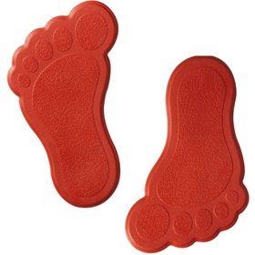 Мини-коврики для ванны Slip-Not XXS 6 шт, цвет красный