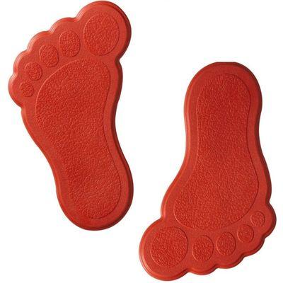 Мини-коврики для ванны Slip-Not XXS 6 шт, цвет красный - Фото 1