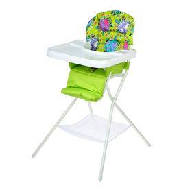 Стульчик для кормления с белым столиком, цвет зелёный