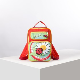 Рюкзак школьный, 2 отдела на молниях, 2 наружных кармана, цвет красный