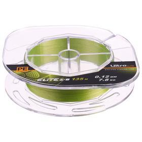 Леска плетёная Aqua Pe Ultra Elite Z-8, d=0,12 мм, 135 м, нагрузка 7,8 кг