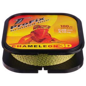 Леска плетёная Aqua ProFix Chameleon 3D Desert, d=0,08 мм, 100 м, нагрузка 4,1 кг