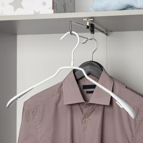 Вешалка-плечики для одежды антискользящая, размер 40-42, цвет белый