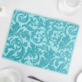 Коврик для сушки посуды «Флёр», микрофибра, 30×40 см, цвет голубой Ош