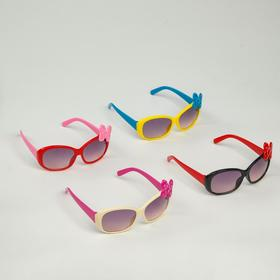 Очки солнцезащитные детские 'Square', оправа с бантом в горошек, МИКС, 12 × 5.5 × 3.5 см Ош