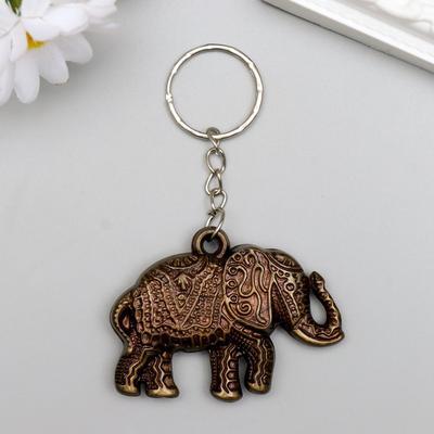 "Брелок пластик под металл ""Индийский слон"" 3,5х5 см - Фото 1"