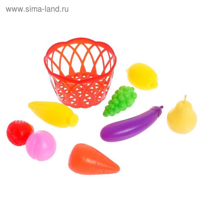 """Набор продуктов """"Фрукты и овощи в корзине"""", 8 предметов ..."""