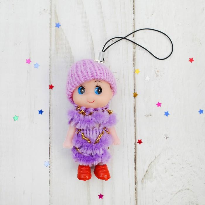 Подвеска Куколка, в шапочке и шарфе, цвета МИКС
