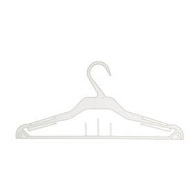 Вешалка для одежды 37*16,6, (фасовка 10 шт), цвет прозрачный, матовый Ош