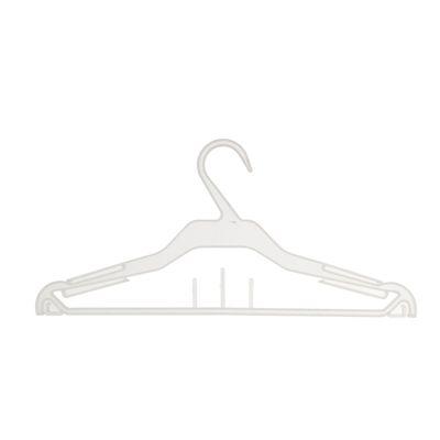 Вешалка для одежды 37*16,6, (фасовка 10 шт), цвет прозрачный, матовый