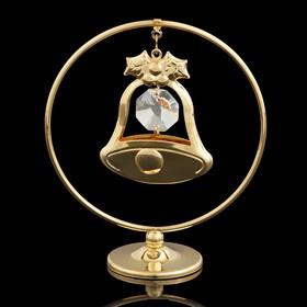 Сувенир «Колокольчик  в кольце», 3×7×8 см, с кристаллами Сваровски Ош